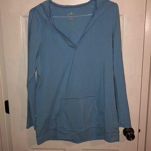 Tops - Carolina Blue Hooded light long sleeve with pocket